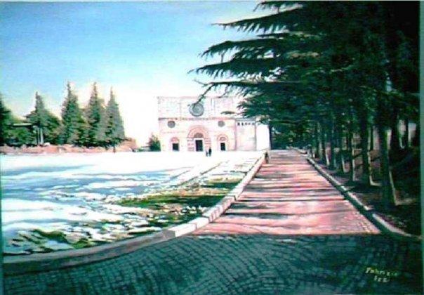 Basilica di Collemaggio innevata