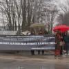 """L'Aquila, la protesta dei familiari delle vittime sul """"Processo breve"""" (foto)"""