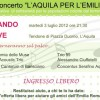 CONCERTO &#8220;L&#8217;AQUILA PER L&#8217;EMILIA&#8221;, STASERA IN PIAZZA DUOMO