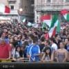 VIDEO: SPAGNA-ITALIA DAL CENTRO DELL'AQUILA, GLI UMORI PRIMA E DOPO LA PARTITA