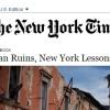 MACERIE AQUILANE,LEZIONI NEWYORKESI: L'ARTICOLO DEL N.Y.TIMES TRADOTTO