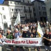 NEL 2014 LUNGA MARCIA DA L'AQUILA A ROMA