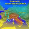 METEO: NEL WEEK-END ARRIVA MEDUSA, PIOGGIA SULL'ITALIA