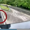 VIDEO: CONTROMANO SULLA A24 VERSO ROMA, FERMATO IN EXTREMIS