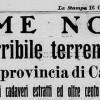 15 OTTOBRE 1911: IL TERREMOTO ETNEO, LA SCOMPARSA DI UN INSEDIAMENTO RURALE