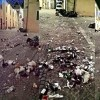 L'AQUILA: CENTRO STORICO FRA I RIFIUTI DOPO LA NOTTE DI NATALE