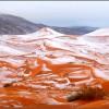 FINALMENTE LA NEVE!! NEL DESERTO DEL SAHARA, DOPO 37 ANNI (FOTO)