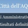L'AQUILA, I RISULTATI DELLE AMMINISTRATIVE
