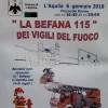 L'AQUILA: OGGI 6 GENNAIO, PER I BAMBINI (E NON SOLO) TORNA IN PIAZZA DUOMO LA BEFANA 115 DEI VIGILI DEL FUOCO