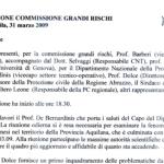 31 MARZO 2009 – VERBALE COMMISSIONE GRANDI RISCHI