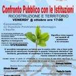 Ricostruzione e Territorio, incontro pubblico con le istituzioni