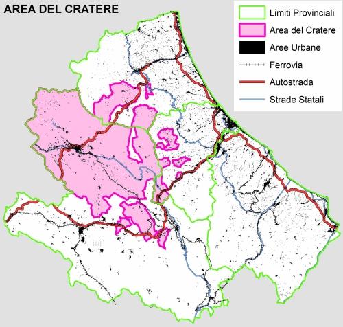 mappa comuni cratere sismico abruzzo