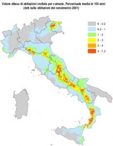 rischio sismico - valore atteso abitazioni crollate