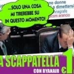 Ryanair ingaggia Berlusconi per la pubblicità di voli low cost
