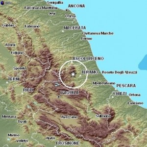 Cartina Geografica Provincia Di Teramo.Terremoto Report Ingv Sullo Sciame In Provincia Di Teramo