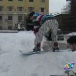L'AQUILA: SNOWBOARD A SAN BERNARDINO (VIDEO)