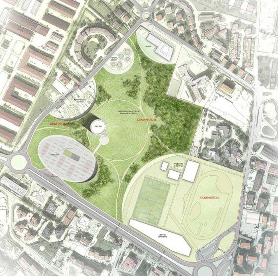 Foto ecco il nuovo parco urbano di piazza d 39 armi a l for Planimetrie dei quartieri suocera