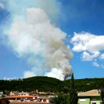 FOTO E VIDEO: L'AQUILA, INCENDIO IN ZONA COLLEBRINCIONI