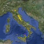 TERREMOTI: INGV, GLI EVENTI SISMICI IN ITALIA DELLA PRIMA META' DI AGOSTO