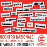 6-8 SETTEMBRE, EMERGENCY A L'AQUILA: PROGRAMMA E LUOGHI DI INCONTRO