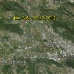 30.10.2012: TERREMOTO M.3,6 A L'AQUILA ALLE 2:52, TRA PIZZOLI E SCOPPITO