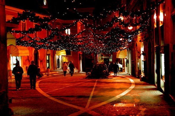 Piazzetta Machilone a L'Aquila, prima del terremoto