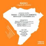 """IL 12 DICEMBRE PROIEZIONE DI """"RADICI – L'AQUILA DI CEMENTO"""""""