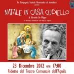 """L'AQUILA: IL 23/12 """"NATALE IN CASA CUPIELLO"""" AL RIDOTTO DEL TEATRO"""