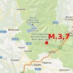 17.2.2013: TERREMOTO M.3,7 NELL'AQUILANO E REPLICHE DI M.2,3 E M.2,7