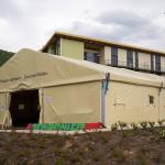 L'AQUILA: ALLESTITE TRE TENDE RISCALDATE IN CASO DI TERREMOTO