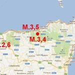 19 MARZO: SCOSSE DI TERREMOTO DI M. 3,5 E 3,4 IN SICILIA