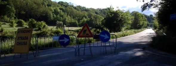 La strada provinciale chiusa