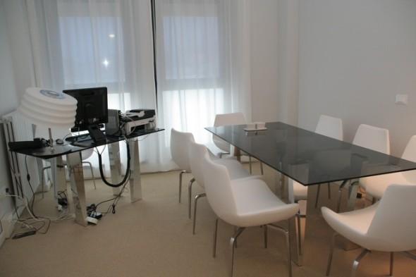 Il tavolo delle riunioni negli appartamenti di Obama