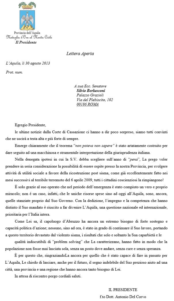2013-08-22_letteraDelCorvo_Berlusconi