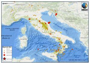 I terremoti dal 1 al 31 luglio (clicca per ingrandire)