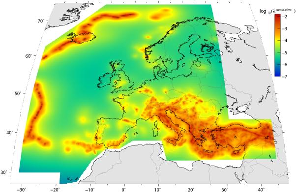 Cartina Zone Sismiche Italia.6aprile Itterremoto Ecco Le Nuove Mappe Sismiche D Europa Italia Grecia E Turchia I Piu A Rischio 6aprile It