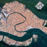 HERE IS THE MAP OF HOW VENICE, ITALY, IS SINKING