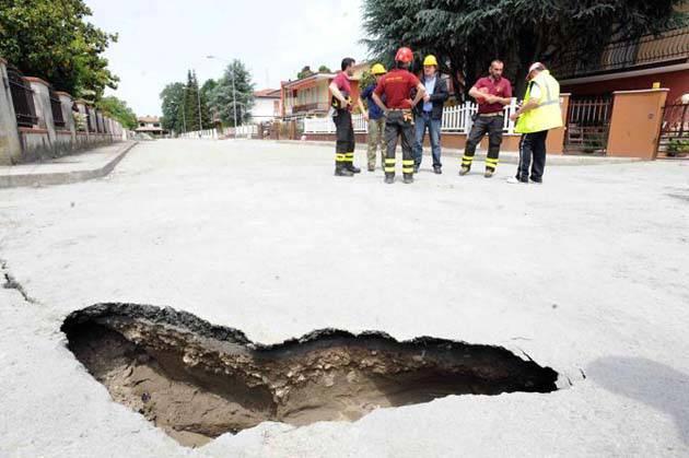 crepa causata dal terremoto