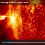VIDEO E FOTO: L'ERUZIONE SOLARE DEL 24.2.2014