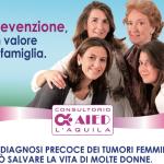 L'AQUILA: AIED E CARISPAQ PER LA LOTTA AI TUMORI FEMMINILI