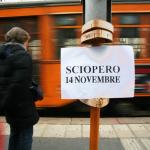 14.11.2014, VENERDÌ NERO PER LO SCIOPERO DEI TRASPORTI