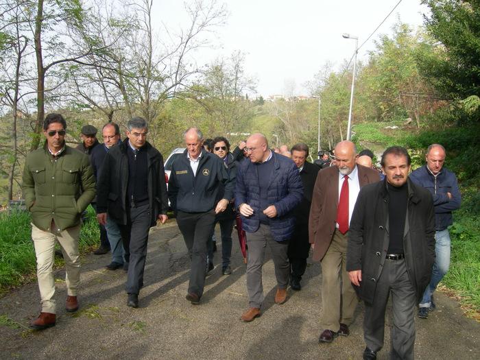 Chieti: sopralluogo del capo della Protezione Civile, Franco Gabrielli