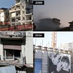 FOTO A CONFRONTO: L'AQUILA 2009-2016, 7 ANNI DOPO IL SISMA