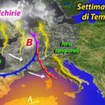 METEO: SETTIMANA RICCA DI TEMPORALI SULL'ITALIA