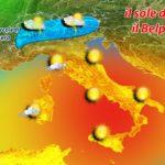 METEO: SOLE, CLIMA GRADEVOLE E QUALCHE TEMPORALE