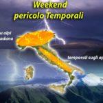 METEO: UN WEEK-END DI TEMPORALI, AL NORD E APPENNINI