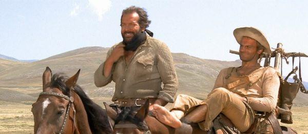 """Film """"Continuavano a chiamarlo Trinità"""" western diretto dal regista Enzo Barboni nel 1971, con la coppia Bud Spencer e Terence Hill"""