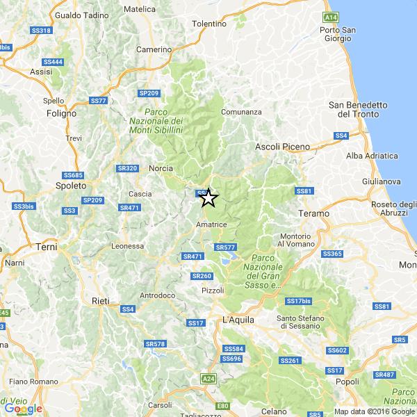 Terremoto, varie scosse nella notte: m.4.1 all'1,34 tra accumoli ed amatrice