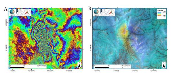 Terremoto centro italia: misure dello spostamento del suolo