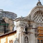 L'AQUILA, CHIESA 'ANIME SANTE': SI SMONTA IL 'RAGNO',  SI AVVICINA LA RIAPERTURA
